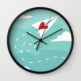 Love Letter Airplane Wall Clock