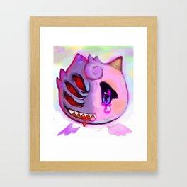 Gengar/Clefairy Framed Art Print