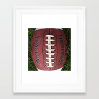 dragon ball Framed Art Prints featuring Ball by eARTh