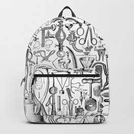 Medical Condition B&W Backpack