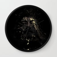 salvador dali Wall Clocks featuring Salvador by nicebleed