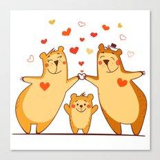 Family of bears Canvas Print