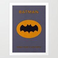 Bat man Minimalist Poster Art Print