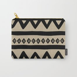 Hand Drawn Tribal - Triangle Stripes Pattern Carry-All Pouch