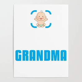 New Grandmother Gift Achievement Unlocked Grandma Present for First Time Grandmother Poster