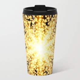 Abstract gold glow light effect Travel Mug