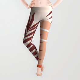 Sunset in Miami / Earth-tones abstraction Leggings