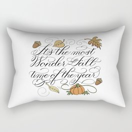 Fall Autumn-It's the most Wonder-Fall time of the year Rectangular Pillow