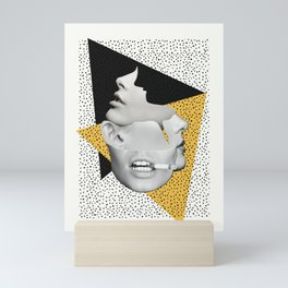 collage art / Faces Mini Art Print