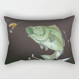 Bass Jumping At Night Rectangular Pillow