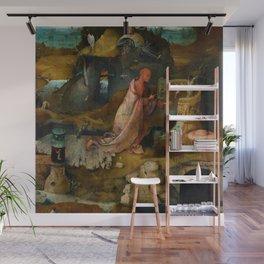 "Hieronymus Bosch ""Hermit Saints Triptych"" - Saint Jerome Wall Mural"