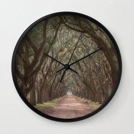 Lousania oaks at Plantation Wall Clock