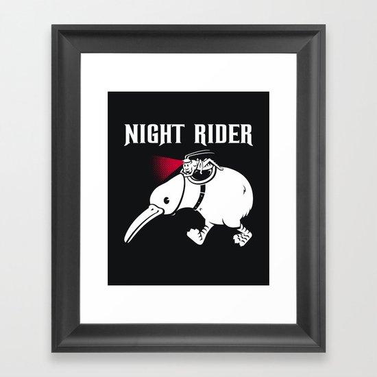 Night Rider Framed Art Print