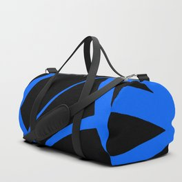 China Blue Star Abstract on Black Duffle Bag