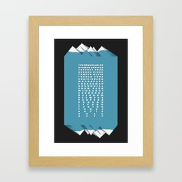 NZ Ski Fields Framed Art Print