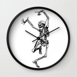 DANCING SKULL Wall Clock