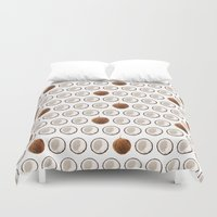 coconut wishes Duvet Covers featuring Coconut by GOLDASTIC