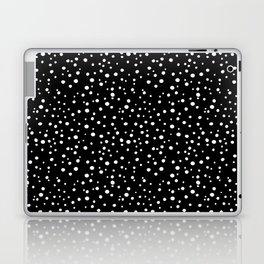 PolkaDots-White on Black Laptop & iPad Skin