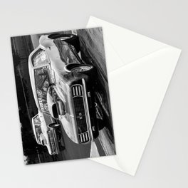 Black and White Drag Car Stationery Cards