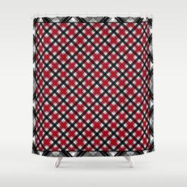 Tartan , red , black , gray Shower Curtain