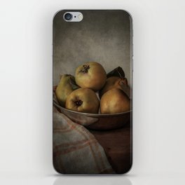 Bowl of fresh quinces iPhone Skin