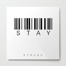 barcode stay Metal Print