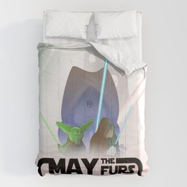 Frod0 the Sheltie: May the Furs be With You (transparent) Comforters