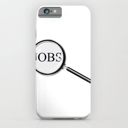Jobs Magnifying Glass iPhone Case