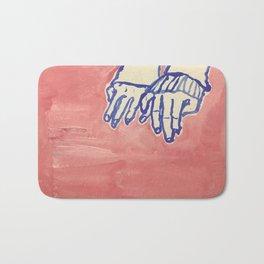 Couple hands Bath Mat