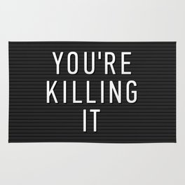 You're Killing It Letter Board Rug