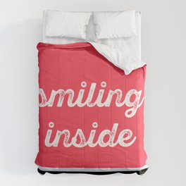 Smiling inside Comforters