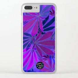 Purple Swirl Clear iPhone Case