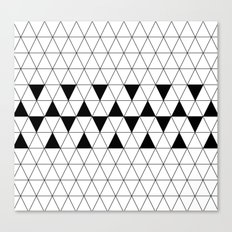 Black and white geometric design, triangle pattern. Home Decor. Worldwide Shipping Canvas Print