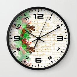 Christmas pine cones #3 Wall Clock