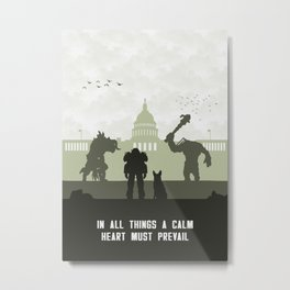 In All Things A Calm Heart Must Prevail Metal Print