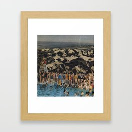 Pool Kids Framed Art Print
