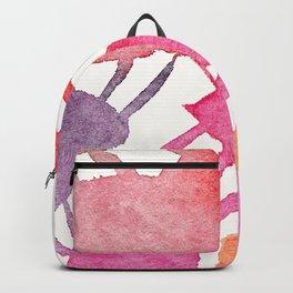 Pink & Purple Minimal Figure Backpack