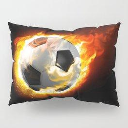 Soccer Fire Ball Pillow Sham