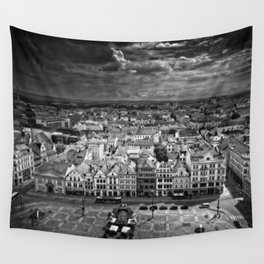 City before storm Wall Tapestry