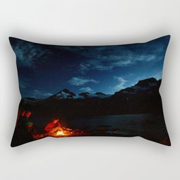 Backpacking Fire Rectangular Pillow