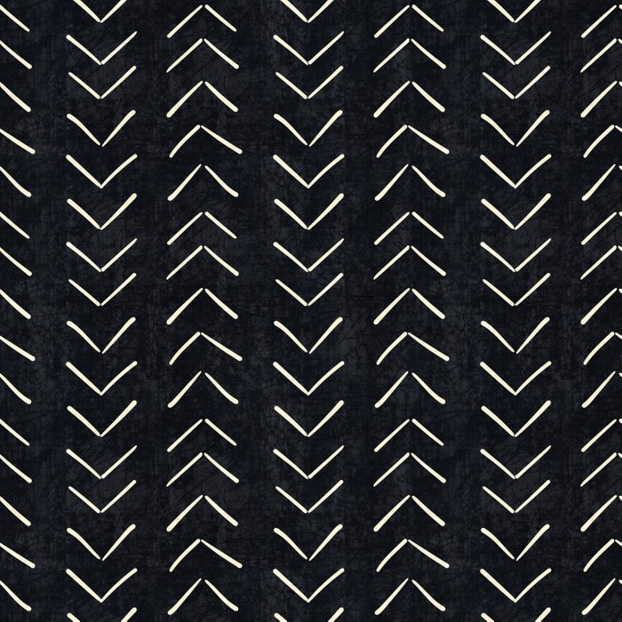 Mudcloth Big Arrows In Black And White Comforters By