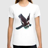 swim T-shirts featuring Penguin Swim by Sammycrafts