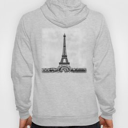 Eiffel tower in B&W with painterly effect Hoody