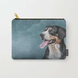 Drawing Appenzell Mountain Dog Carry-All Pouch