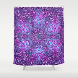 Pink, Purple, and Blue Mandala Shower Curtain