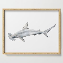 Hammerhead shark for shark lovers, divers and fishermen Serving Tray