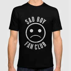 Sad Boy Club (White) MEDIUM Mens Fitted Tee Black