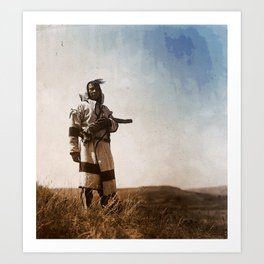 Piegan (Blackfoot) Scout Art Print