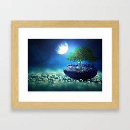Moonlight in small things Framed Art Print