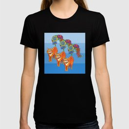 Three Blooming Kitties T-shirt
